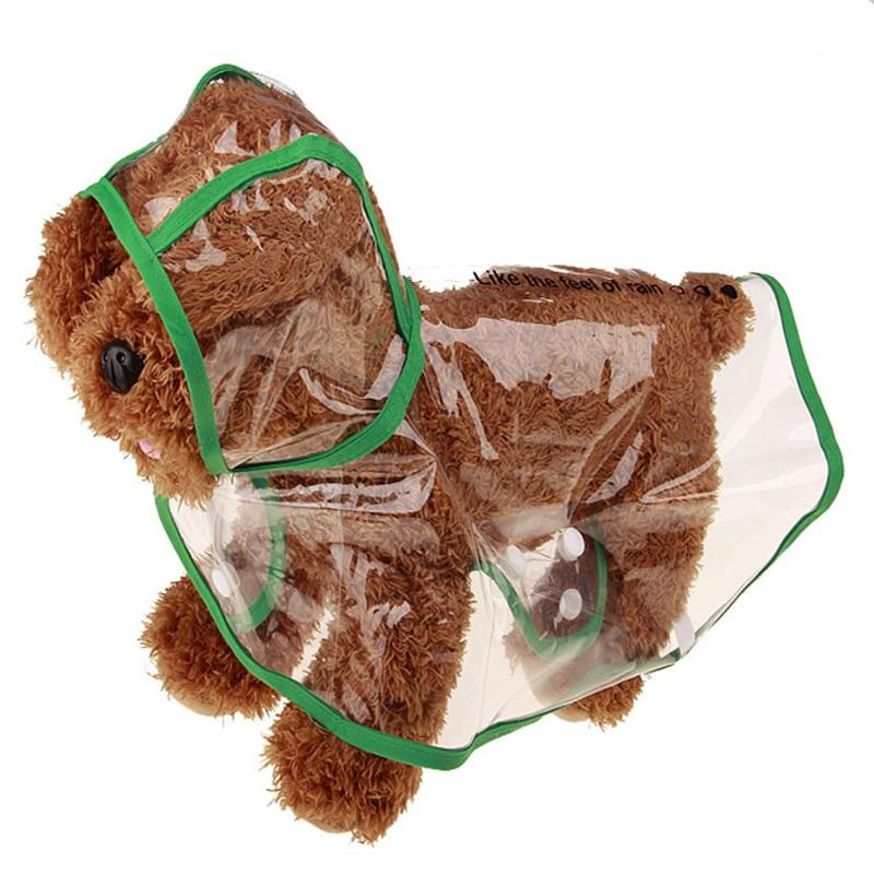 Pet PU Transparent Raincoat Dog Outdoor Waterproof Rain Coat Raincoat Universal Puppy Dog Rainy Play Rainwear Rain Gear Supplies