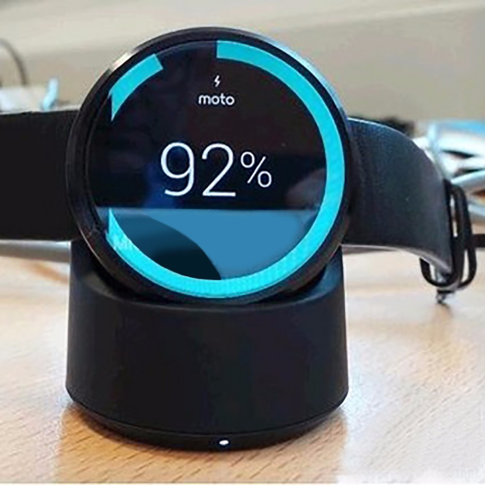 100% Original eAmpang Wireless Charginh Pad for Moto360 Watch Qi Wireless Charger Cradle for Moto 360 and 2ND Gen Smart Watch