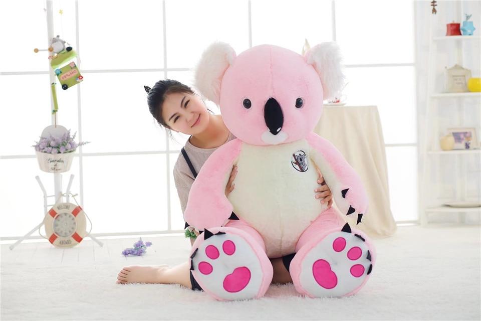 lovely big plush koala toy stuffed large pink koala doll birthday gift about 120cm big new creative plush koala toy lovely
