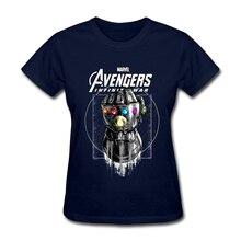 High Quality Avengers Endgame T Shirt Vintage Gauntlet Women's T-shirts Printed Infinity War Marvel Comic Lady Tee Shirt 2019