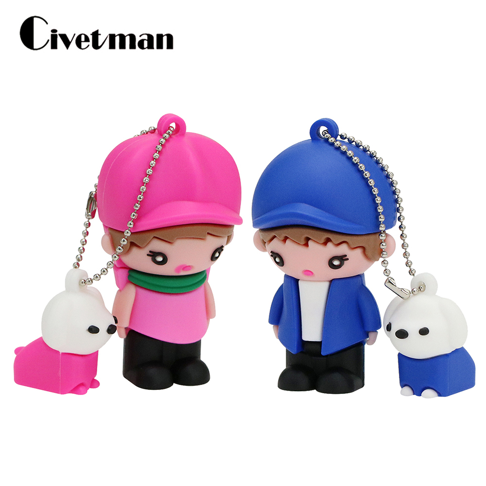 Wedding Usb Flash Drive Cartoon Baby Pendrive 4GB 8GB 16GB 32GB 64GB 128GB Pen Drives Memoria Cle USB Memory Stick Child Gifts
