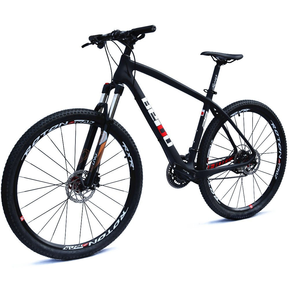 BEIOU Carbon 29 Inch Mountain Bike 29er Hardtail Bicycle 2.10 Tires SHIMANO ALTUS M370 27 Speed XC/Trail MTB T800 BOCB020 29