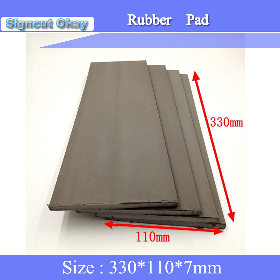 Free Shipping 3pcs/lot Flash Stamp Pad 330 *110*7mm Laser Rubber Sheet Pad Flash Pad For Laser Engraver Machine