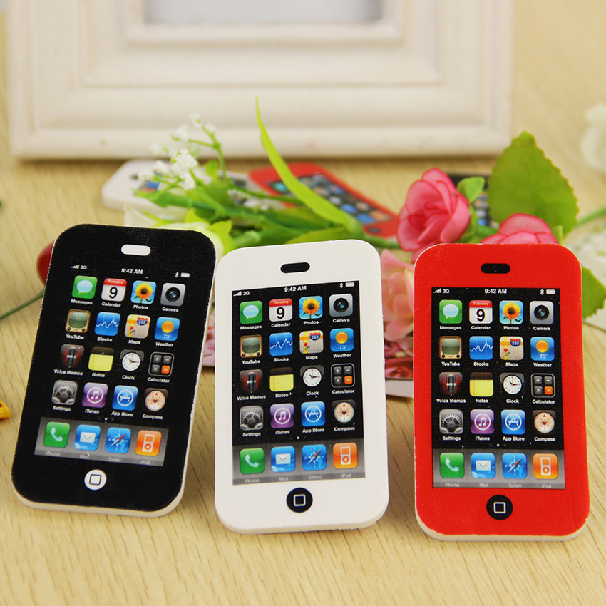 Прекрасный творческий форма мобильного Телефона Ластик награда дети лучший канцелярские подарок