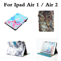 Marbling Cases Cover For Ipad Air 1 Air 2 Fashion PU Leather Wallet Stand Flip Card