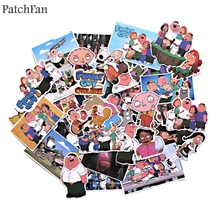 Patchfan 55pcs Family guy cartoon Kids Toy Sticker for DIY scrapbooking album Luggage Laptop Phone notebook decals Sticker A1534