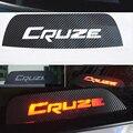 Alta Montada Parar de Freio Lâmpada de Luz De Fibra De Carbono 3D Adesivos E Decalques Do Carro-Styling Para Chevrolet Cruze Acessórios
