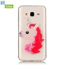 Фотография Luxury Case For Samsung Galaxy J3 2016 Bling Glitter Cute Unicorn TPU Transparent Cover For Samsung J3 Phone Accessory Girl