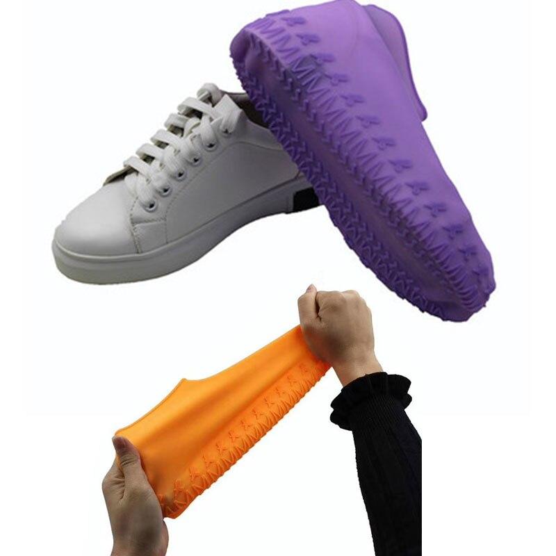 Reusable Rainproof Waterproof Overshoes Non-slip Men Shoes Covers Recyclable