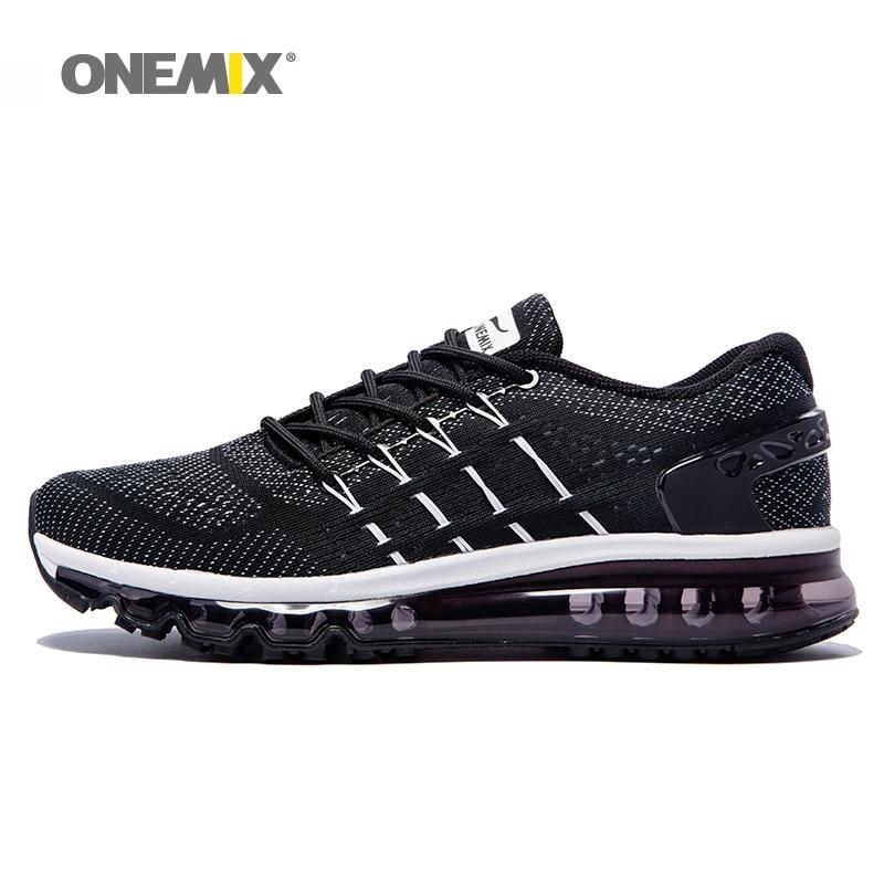 Onemix outdoor men running zapatos de hombre transpirable deporte sneakes luz am
