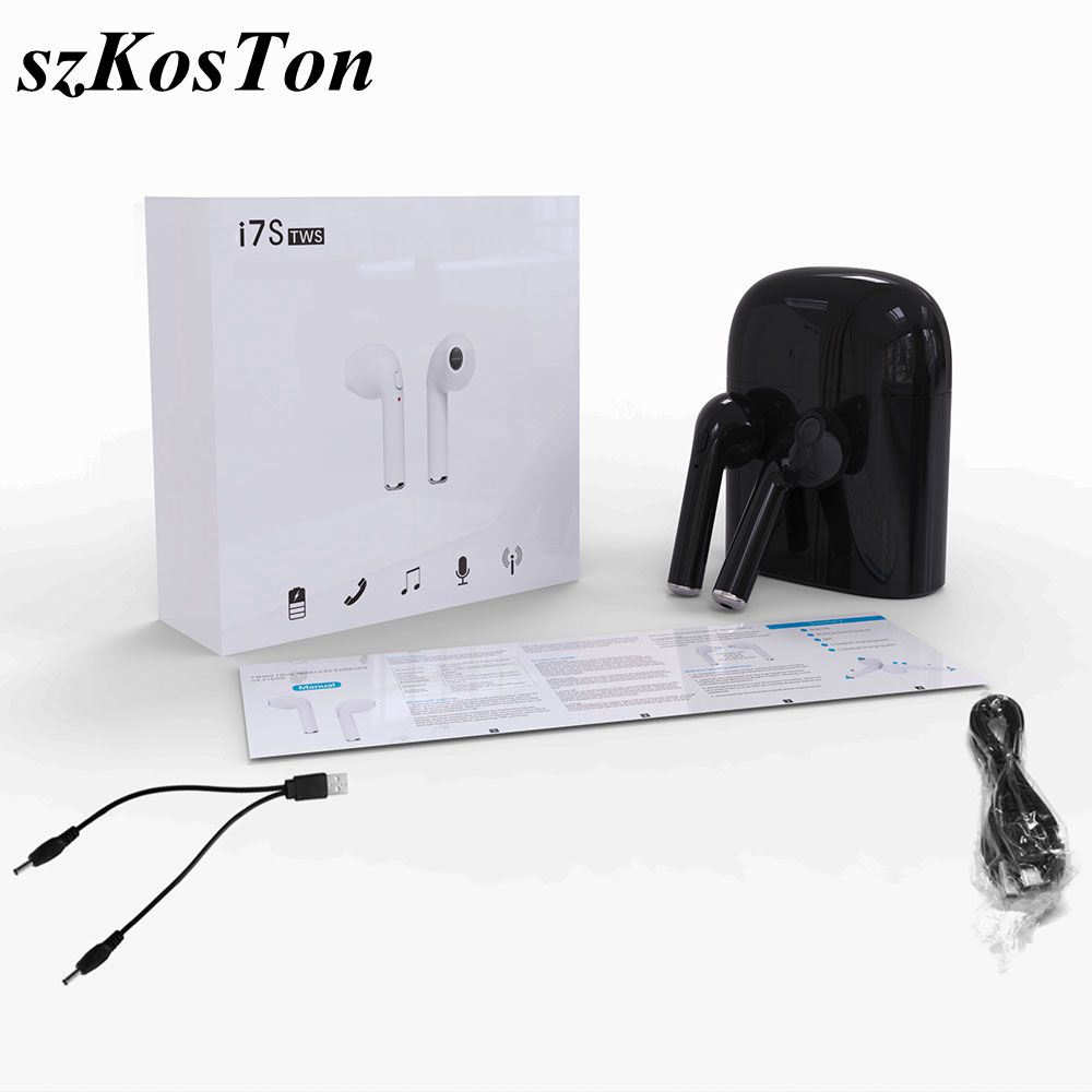 TWS Mini Twins Noise Cancelling Bluetooth Earphone Wireless Bluetooth V4.2 Earphones Earbuds with Mic for Xiaomi iPhone 7Plus