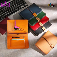 TZY New Fashion Handmade Unisex Wallet Vintage Designer High Quality 100 Genuine Cowhide Leather Women S