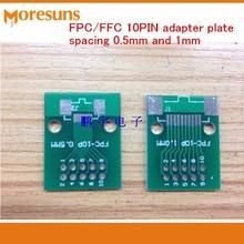 Быстрая 20 шт./лот fpc10p pinboard ФФК Включите 2.54 мм dip-tft ЖК-дисплей разъем 1 мм 0.5 мм расстояние между двойной двусторонняя адаптер пластины