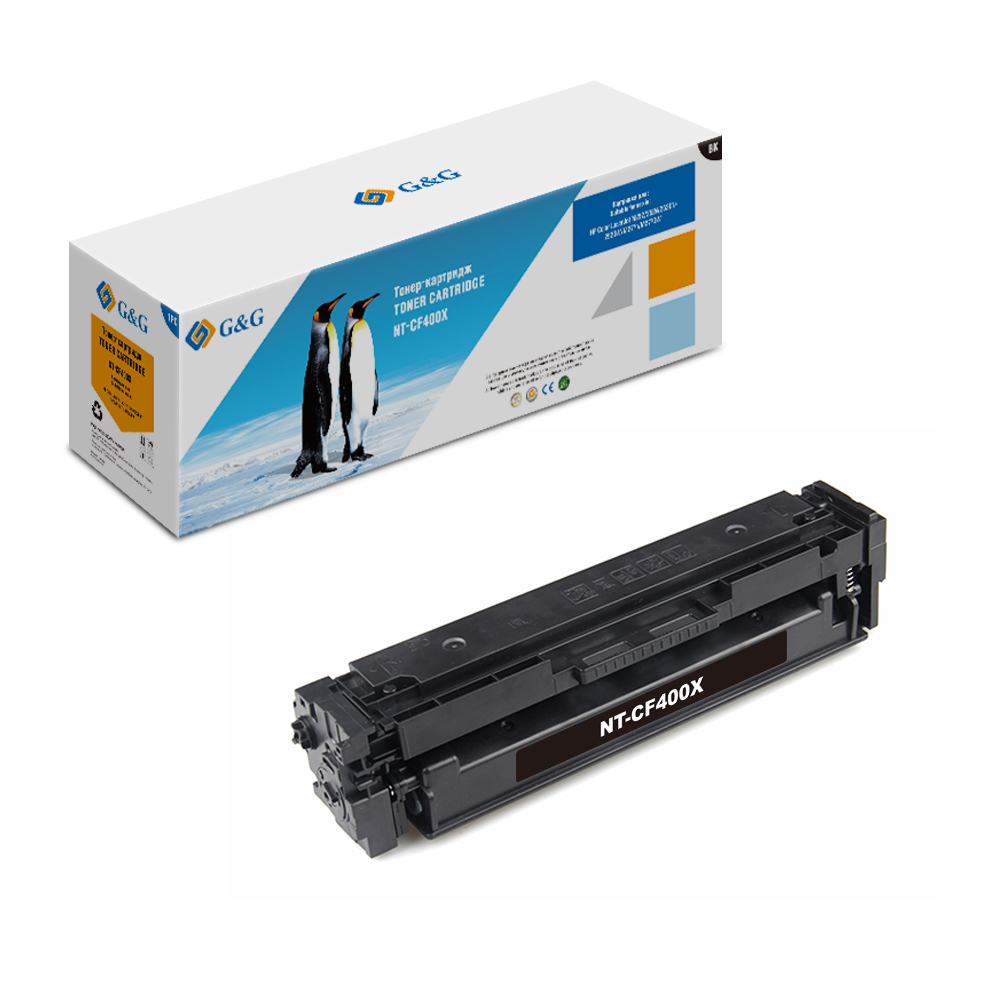 Computer Office Office Electronics Printer Supplies Ink Cartridges G&G NT-CF400X for HP LaserJet Color M252 /n/dn/dw M277n/dw aluminum project box splitted enclosure 25x25x80mm diy for pcb electronics enclosure new wholesale