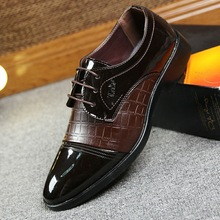 Men British lace Retro Lattice pattern Black Brown Pointed Toe Oxfords Wing Tip Brogue Formal Dress leather Shoes