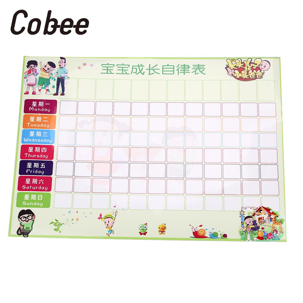 Reward Chores Chart 64x42cm Behavior Chores Chart Educational Toys ChildrenS Behaviour Chart Foldable Self Adhesive