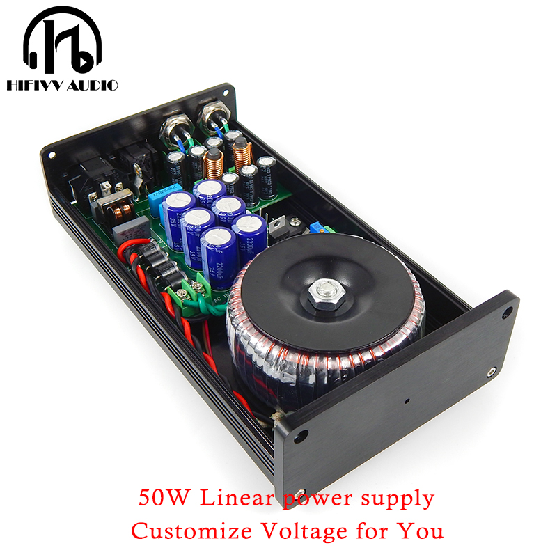 50W 50VA hifi Linear Power Supply Regulated power supply support choose 5V 6V 7V 9V 12V