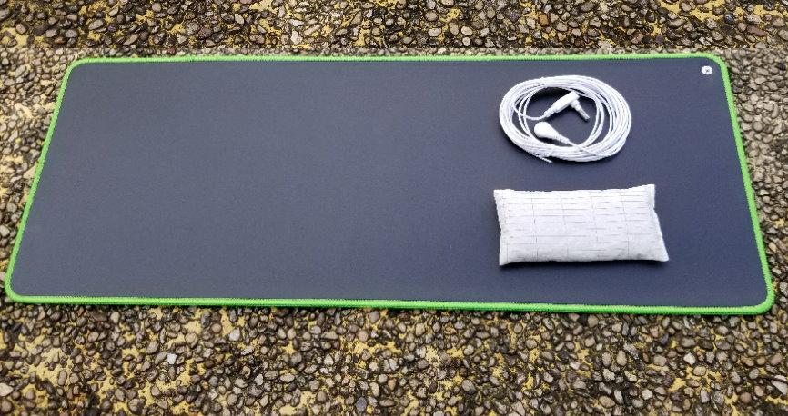 ЗЕМЛЯ Заземляющий настольный коврик Защита от ЭМП для здоровья 68 * 25см с ковриком для мыши, заземляющий шнур зеленого цвета