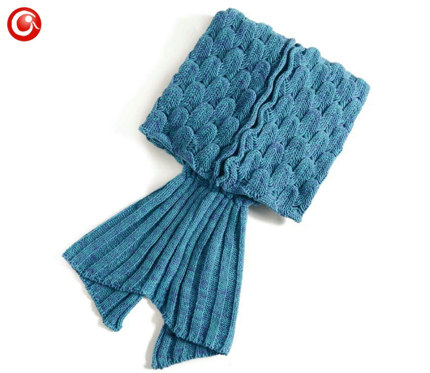 Baby Knitted Crochet Mermaid Blanket For Mother&Baby Infant Newborn Handmade Bed Wrap Throw Sleeping Bag Soft (10)