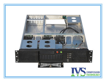 """Stable 19"""" 2U rack case RC2630A supports MAX 12""""*13"""" ATX M/B with Five Vertical expansional slots for half-height Card"""