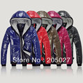 freeshipping glossy thickening thermal double zipper with a hood sweatshirt men wadded winter jacket men winter coat   xxo6-05