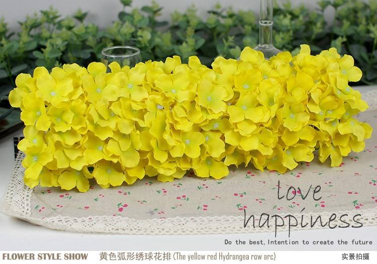 Künstliche Hydragea Blumengirlanden 10 Stücke 50 * 20 cm - Partyartikel und Dekoration - Foto 2