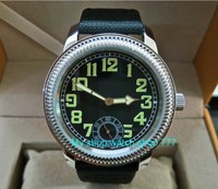 44mm PARNIS Asian ST3621/6498 Mechanical Hand Wind movement Mechanical watches Luminous black dial men's watches dfgd181a watches luminous watch menwatch men watch -