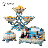 European fruit plate three piece suit Living room tea table home decoration and mariage accessories