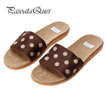 Hemp Men Women Shoes Flip Flops Spring Summer Home House Breathable Indoor Slippers Brand Pasoataques Asspfhp112
