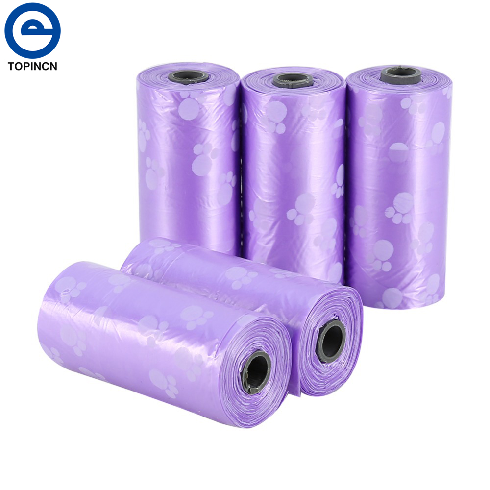 10 Rolls/150 Pcs Pet Biodegradable Pet Dog Waste Pick Up Bags Can Be Match Bone Dispenser Doggy Poop Bag Clean Bags For Dog