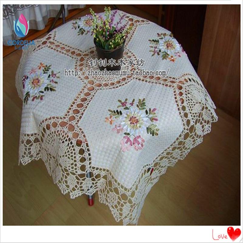 China Lastest Products Zakka Home Vintage Round Pastoral Crochet