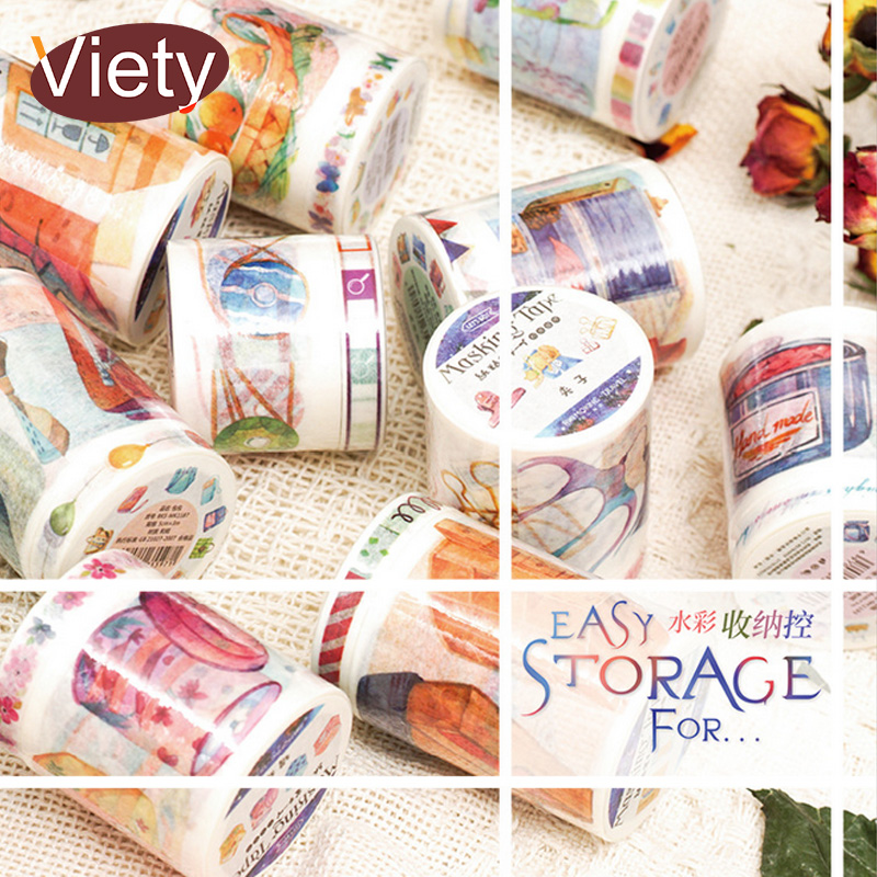2 Pcs/Lot Watercolor decoration Life washi tape DIY decorative scrapbooking masking tape adhesive label sticker tape dc5016 5020 toner chip laser printer cartridge chip reset for xerox dc5016 5020 drum chip
