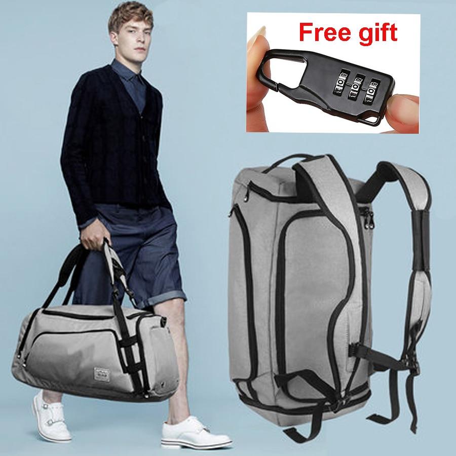 Men Travel Bag Waterproof Sport Gym Bag Multifunction Tote Large Backpack For Shoes Storage Fitness Anti