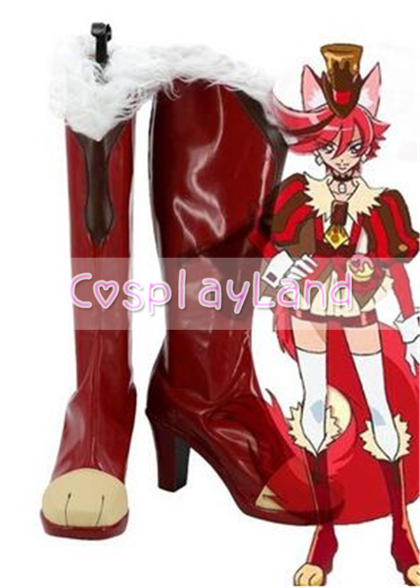 KiraKira Pretty Cure A La Mode Cure Chocolat Kenjou Akira Cosplay Shoe Cosplay Show Costume Anime Party Shoes Custom Made Boots
