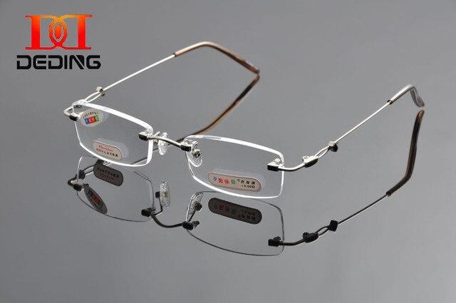 497d3d611b Tent DeDing marca sin montura de Metal gafas de lectura Ultra ligero gafas  de lectura elegantes