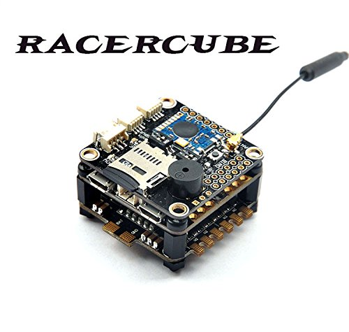 RacerCube SP Racing F3 EVO Flight Controller FC Integrated 4in1 ESC PDB MWOSD Frsky 8CH PPM SBUS Receiver F19759 fd800 tiny frsky 8ch sbus receiver
