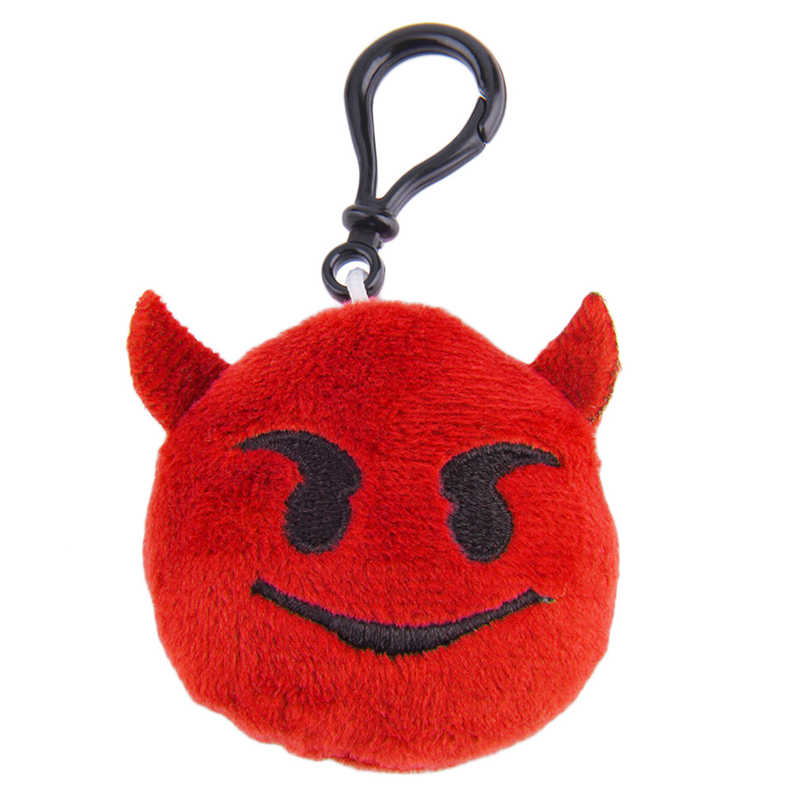 Wechat Emoji Pelúcia Keychain Chaveiro Chave Anel Chave Cadeia Saco Rosto Pelúcia Emoji Emoticon Gancho Cadeia de Telefone Chaveiro Pele