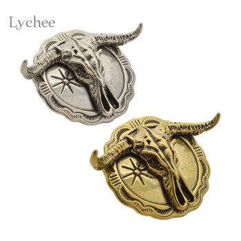 Lychee vaca diseño remaches vaquero estilo Punk ropa costura ropa remaches  decorativos Spikes para ropa accesorio artesanal 49729f4a270