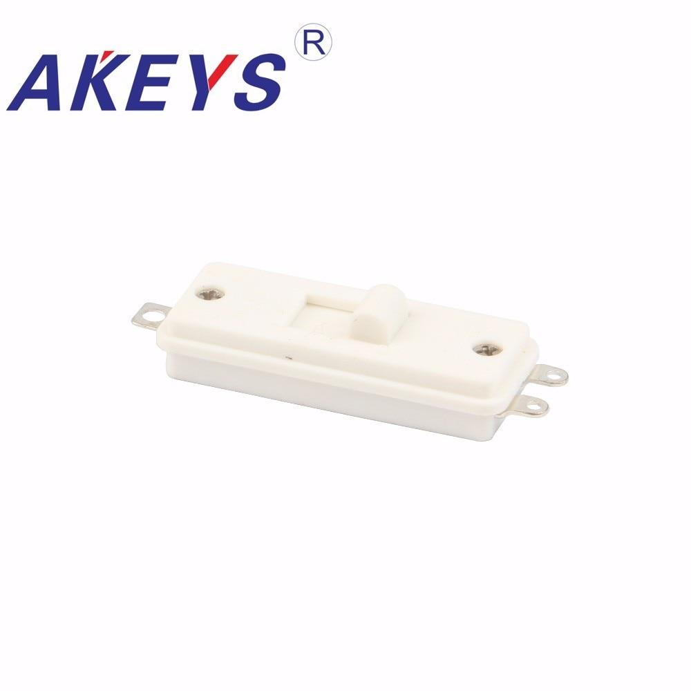 10 ADET SS 1305 Kablo anahtarı 3 lehim lug pin 3 pozisyon slayt anahtarı saç  kurutma makinesi düğmesi Saç kurutma makinesi anahtarı BEYAZ|Anahtarlar