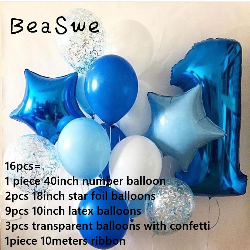 JIALING 40 Pulgadas Azul Caramelo Globo Papel Globo N/úMero Gigante En Ideal Para Fiesta Decoraci/óN De Cumplea/ñOs