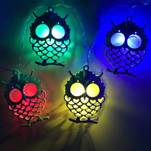 Creative Owl Light String Decorative Light Solar Light String Christmas Lantern  modern gifts lighting fixture