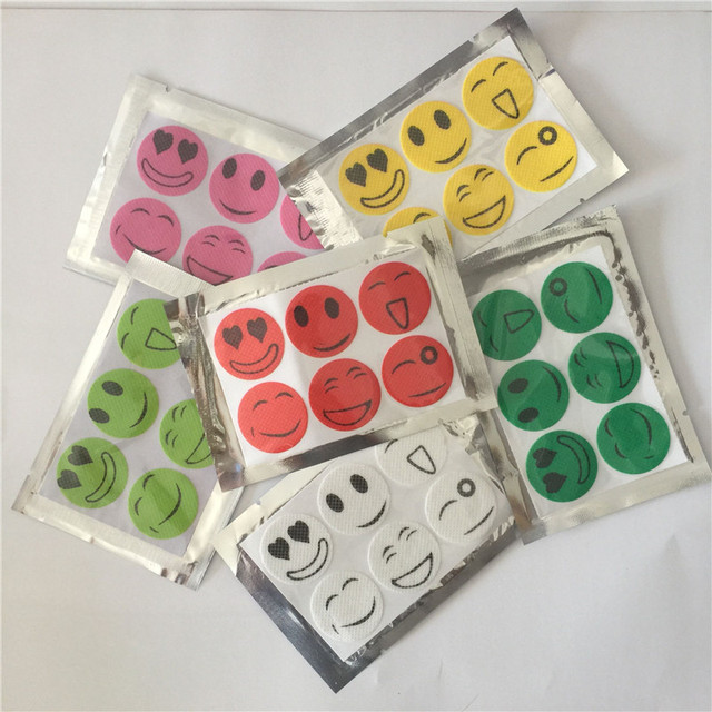 2018 Mosquito repeller wholesale smile anti Mosquito Repellent Sticker Repeller Patch Natural Essential Oil mat 1200PCS/pack