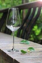 hot sales 570ml/20oz crystal wedding 2 pieces wine glasses set  good quality with metal stem plating chrome