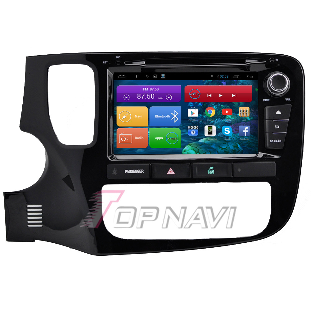 8'' Quad Core Android 4.4 Car PC Car Navigation for Mitsubishi New Outlander With Radio 16GB Flash Mirror Link DVD Free Shipping