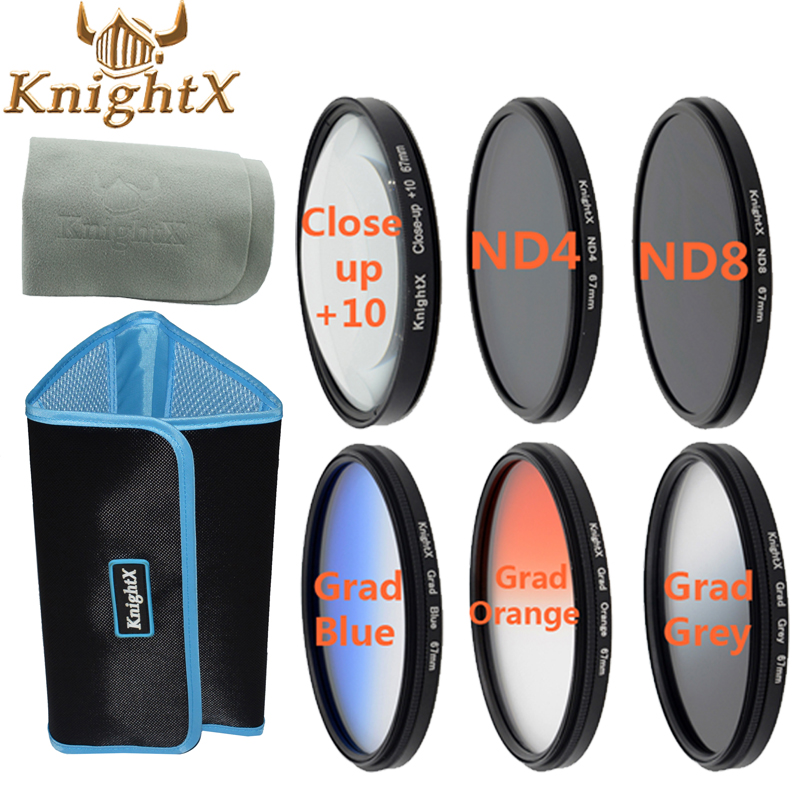 KnightX close up lens Laureato ND filter 67mm 58mm 52mm 72mm per canon eos 700d 100d t2i t5i nikon d700 d7200 650 sony nex