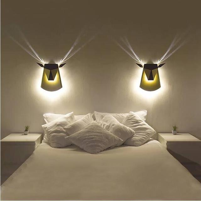 2017 New Wall Lights Creative Led Wall Lamp Bedroom Bedside Decoration Sconces  Lamp Fashion Living Room