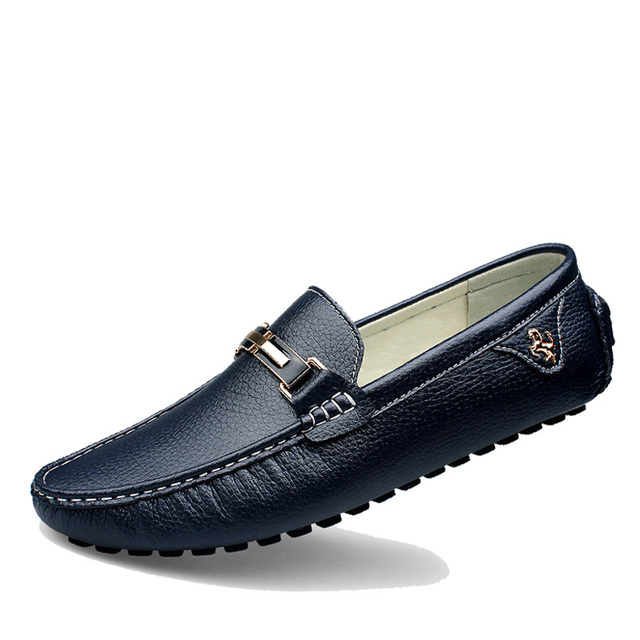 04b556bd376 Men Shoes 2017 NEW Men Loafers Spring Cool Autumn Men s Flats Shoes Genuine  Leather Low Man Casual zapato Masculino