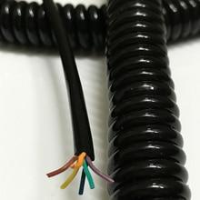 Шестижильный спиральный пружинный кабель, удлинитель провода, электрический кабель, 0,6 квадратный шнур питания, 1 шт./лот, Undraw, 2,5 м провод