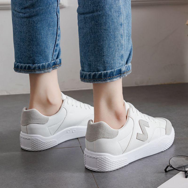 2018 Nouveau Noir Plates Blanc Chaussures En Casual blanc Femmes rouge Cuir Chaussures aOTaWnxw