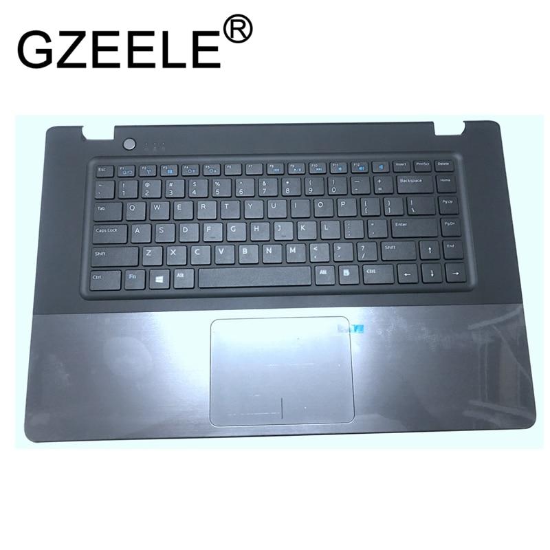 GZEELE New Palmrest topcase for DELL for VOSTRO 5560 V5560 P N RGYVG US Keyboard Upper